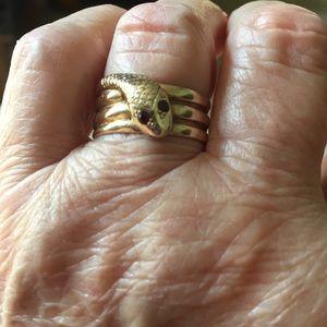 Genuine Victorian 10K Serpent Ring FIRM PRICE